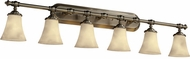 Justice Design CLD852620 Tradition Round Flared Six-Light Bathroom Lighting