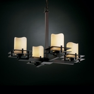 Justice Design CNDL-8100 CandleAria� Faux Candle 19.25 Tall Ceiling Chandelier