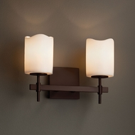 Justice Design CNDL-8412 Union CandleAria 2-Light Lighting For Bathroom