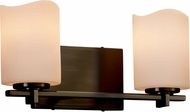 Justice Design CNDL-8442 CandleAria Era Modern 2-Light Bathroom Vanity Light Fixture