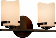 Justice Design CNDL-8452 CandleAria Atlas Modern 2-Light Bathroom Wall Sconce