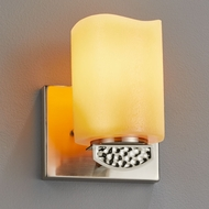 Justice Design CNDL-8491 CandleAria Malleo Contemporary LED Light Sconce