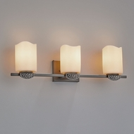 Justice Design CNDL-8493 CandleAria Malleo Contemporary LED 3-Light Vanity Light