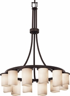 Justice Design CNDL-8738 CandleAria Dakota Contemporary Chandelier Lamp