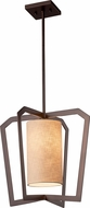 Justice Design FAB-8011 Textile Aria Contemporary Foyer Light Fixture