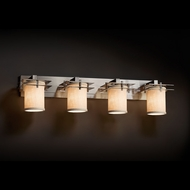 Justice Design FAB-8174 Metropolis Textile 4-Light Bathroom Lighting Fixture