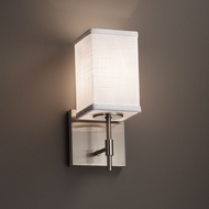 Justice Design FAB-8411 Union Textile Wall Light Sconce
