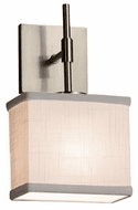 Justice Design FAB-8417 Textile Union Lighting Wall Sconce