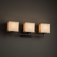 Justice Design FAB-8423 Tetra Textile 3-Light Bathroom Sconce