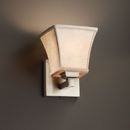 Justice Design FAB-8431 Regency Textile Wall Sconce Light