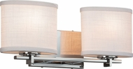 Justice Design FAB-8442 Textile Era Contemporary 2-Light Bath Wall Sconce