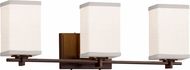 Justice Design FAB-8443 Textile Era Modern 3-Light Bathroom Light Sconce