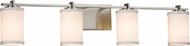 Justice Design FAB-8444 Textile Era Contemporary 4-Light Bathroom Lighting Sconce