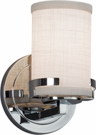 Justice Design FAB-8451-10 Textile Atlas Contemporary Wall Lighting Fixture