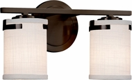 Justice Design FAB-8452-10 Textile Atlas Modern 2-Light Bathroom Sconce Lighting