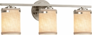 Justice Design FAB-8453-10 Textile Atlas Contemporary 3-Light Bath Lighting Sconce