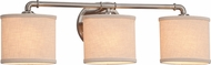 Justice Design FAB-8463 Textile Bronx Contemporary 2-Light Bathroom Light Sconce