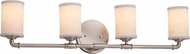 Justice Design FAB-8464 Textile Bronx Modern 3-Light Bathroom Lighting Sconce