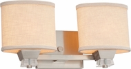 Justice Design FAB-8472 Textile Ardent Modern 2-Light Bathroom Sconce Lighting