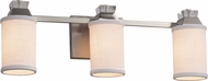 Justice Design FAB-8473 Textile Ardent Contemporary 3-Light Bath Lighting Sconce
