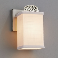 Justice Design FAB-8491 Textile Malleo Contemporary LED Lighting Sconce