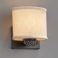 Justice Design FAB-8497 Textile Malleo Contemporary LED Lamp Sconce