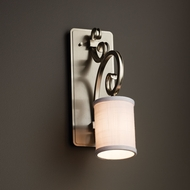 Justice Design FAB-8578 Victoria Textile Wall Sconce Lighting