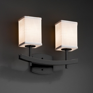Justice Design FAB-8592 Archway Textile 2-Light Bathroom Vanity Light