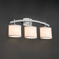 Justice Design FAB-8593 Archway Textile 3-Light Bathroom Sconce