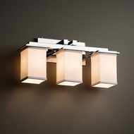 Justice Design FAB-8673 Montana Textile 3-Light Vanity Lighting Fixture