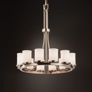 Justice Design FAB-8763 Dakota Textile Chandelier Lighting
