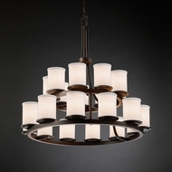 Justice Design FAB-8767 Dakota Textile Chandelier Lamp