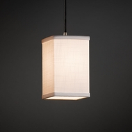 Justice Design FAB-8816 Pendants Textile Mini Hanging Pendant Light