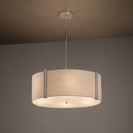 Justice Design FAB-9512 Reveal Textile Drum Drop Ceiling Lighting