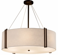 Justice Design FAB-9514 Textile Reveal Contemporary 36  Drum Pendant Light Fixture