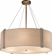 Justice Design FAB-9517 Textile Reveal Modern 48  Drum Pendant Lighting Fixture