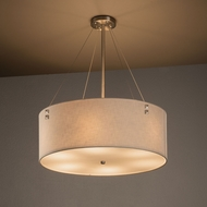 Justice Design FAB-9534 Finials Textile Flush Lighting