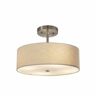 Justice Design FAB-9590-CREM Textile Classic 14  Drum Lighting Pendant