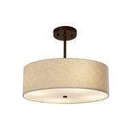 Justice Design FAB-9591-CREM Textile Classic 18  Drum Hanging Light