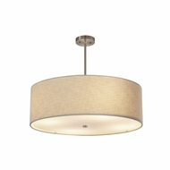 Justice Design FAB-9592-CREM Textile Classic 24  Drum Hanging Pendant Lighting