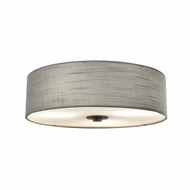 Justice Design FAB-9595-GRAY-DBRZ Textile Classic Dark Bronze Home Ceiling Lighting