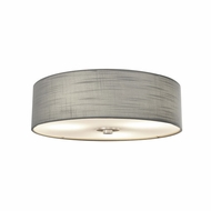 Justice Design FAB-9595-GRAY-NCKL Textile Classic Brushed Nickel Overhead Light Fixture