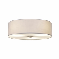 Justice Design FAB-9595-WHTE-NCKL Textile Classic Brushed Nickel Ceiling Lighting