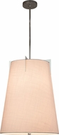Justice Design FAB-9600-WHTE-CROM Textile Midtown Contemporary Polished Chrome Drum Drop Lighting
