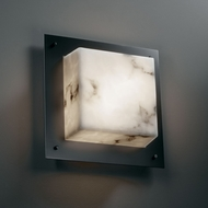 Justice Design FAL-5565-WS LumenAria� Faux Alabaster 12  Wide Wall Light Sconce