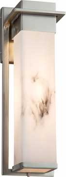 Justice Design FAL-7544W-NCKL LumenAria Pacific Modern Brushed Nickel LED Exterior Large Wall Lamp