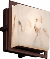 Justice Design FAL-7561W-DBRZ LumenAria Avalon Contemporary Dark Bronze LED Outdoor Square Light Sconce