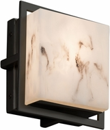 Justice Design FAL-7561W-MBLK LumenAria Avalon Modern Matte Black LED Exterior Square Lighting Sconce