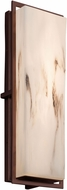 Justice Design FAL-7564W-DBRZ LumenAria Avalon Contemporary Dark Bronze LED Outdoor Large Wall Lighting Sconce