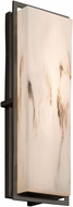 Justice Design FAL-7564W-MBLK LumenAria Avalon Modern Matte Black LED Exterior Large Wall Sconce Lighting